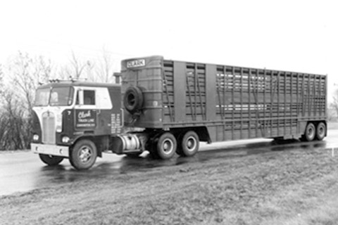 Another old livestock trailer.