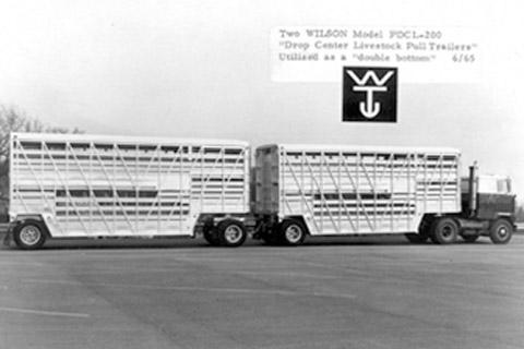 The first Wilson livestock trailer ever built.
